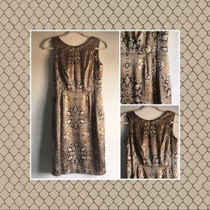 Alberto Makali 🐍 Silk dress brown snake print